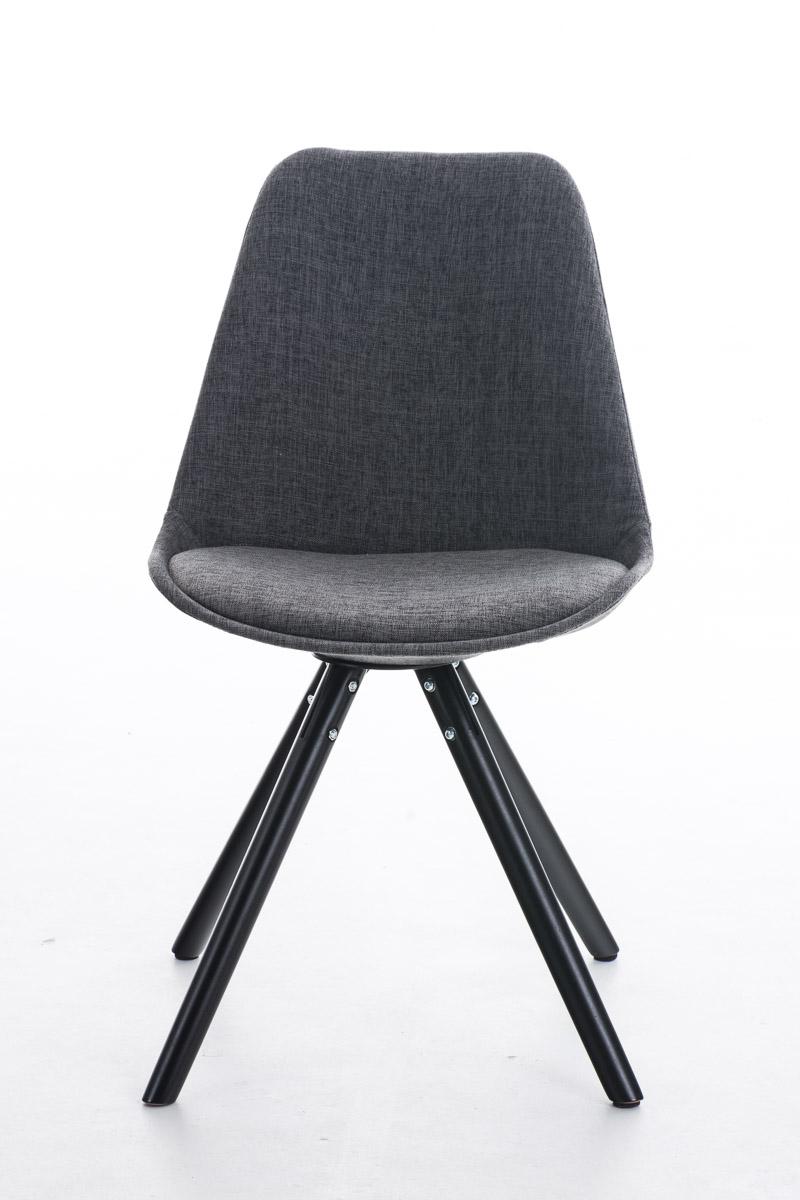 Stuhl Pegleg Stoff Rund schwarz