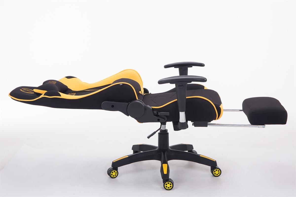Racing Bürostuhl Turbo Stoff mit Fußablage