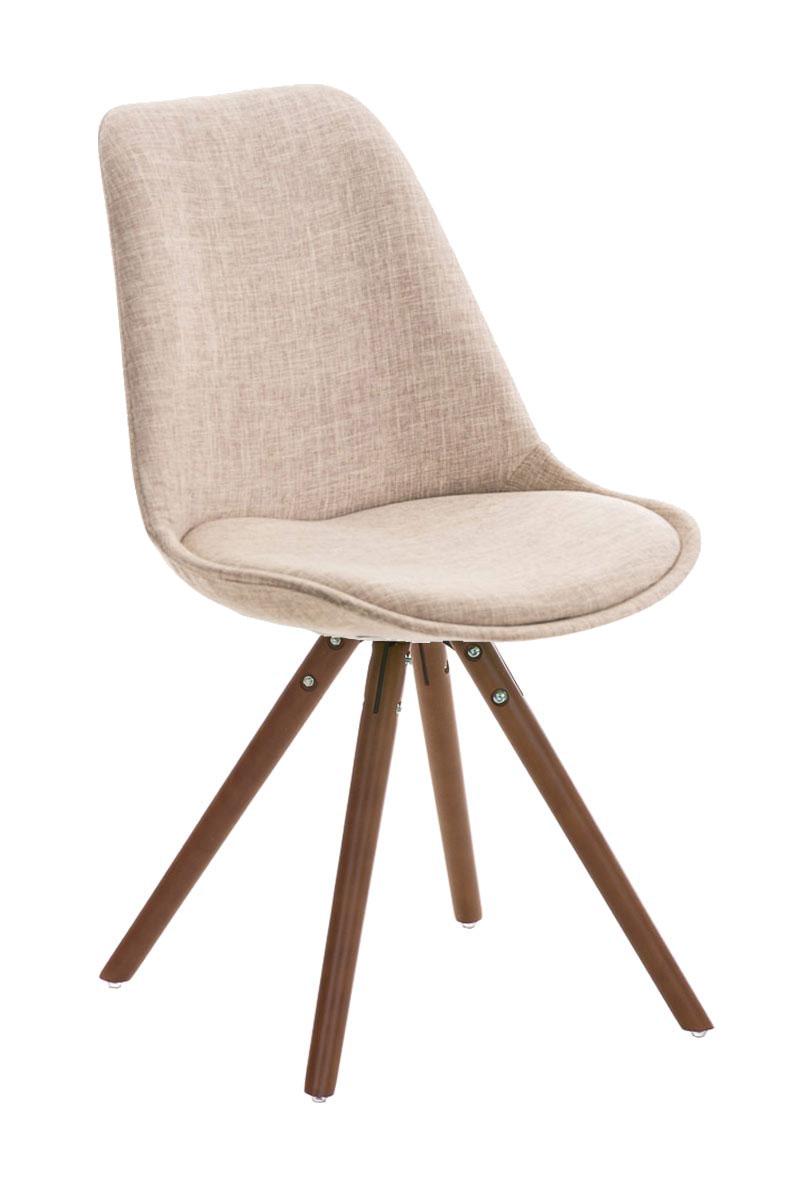 Stuhl Pegleg Stoff Rund walnuss, schwarz | Stühle