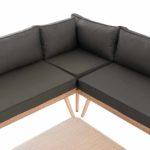 Eck-Loungeset Skara Flachrattan anthrazit 40 cm (Hellbraun)