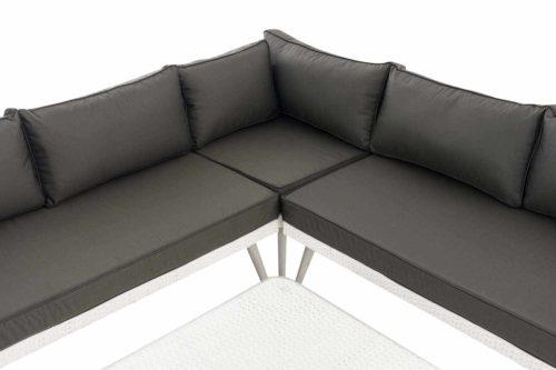 Eck-Loungeset Skara Flachrattan anthrazit 45 cm (Hellgrau)