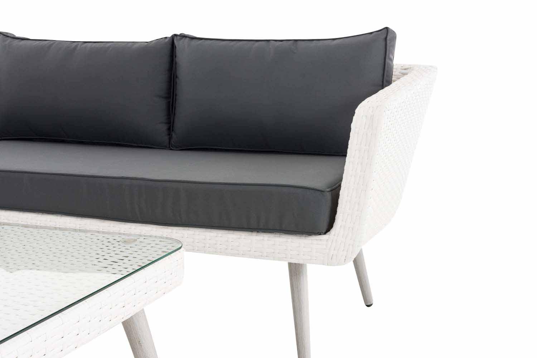 Eck-Loungeset Skara Flachrattan eisengrau 40 cm (Hellgrau)