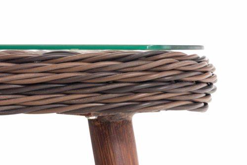 Loungeset Skara Rundrattan eisengrau 40 cm (Dunkelbraun)