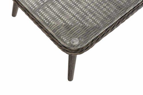 Loungeset Skara Rundrattan eisengrau 40 cm (Dunkelgrau)