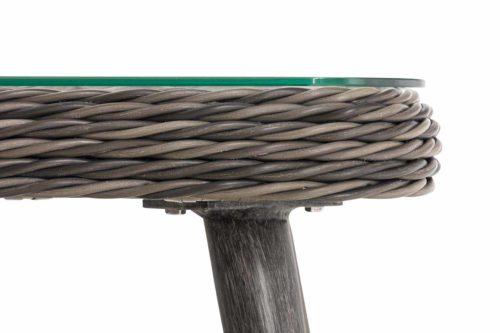 Loungeset Skara Rundrattan eisengrau 45 cm (Dunkelgrau)