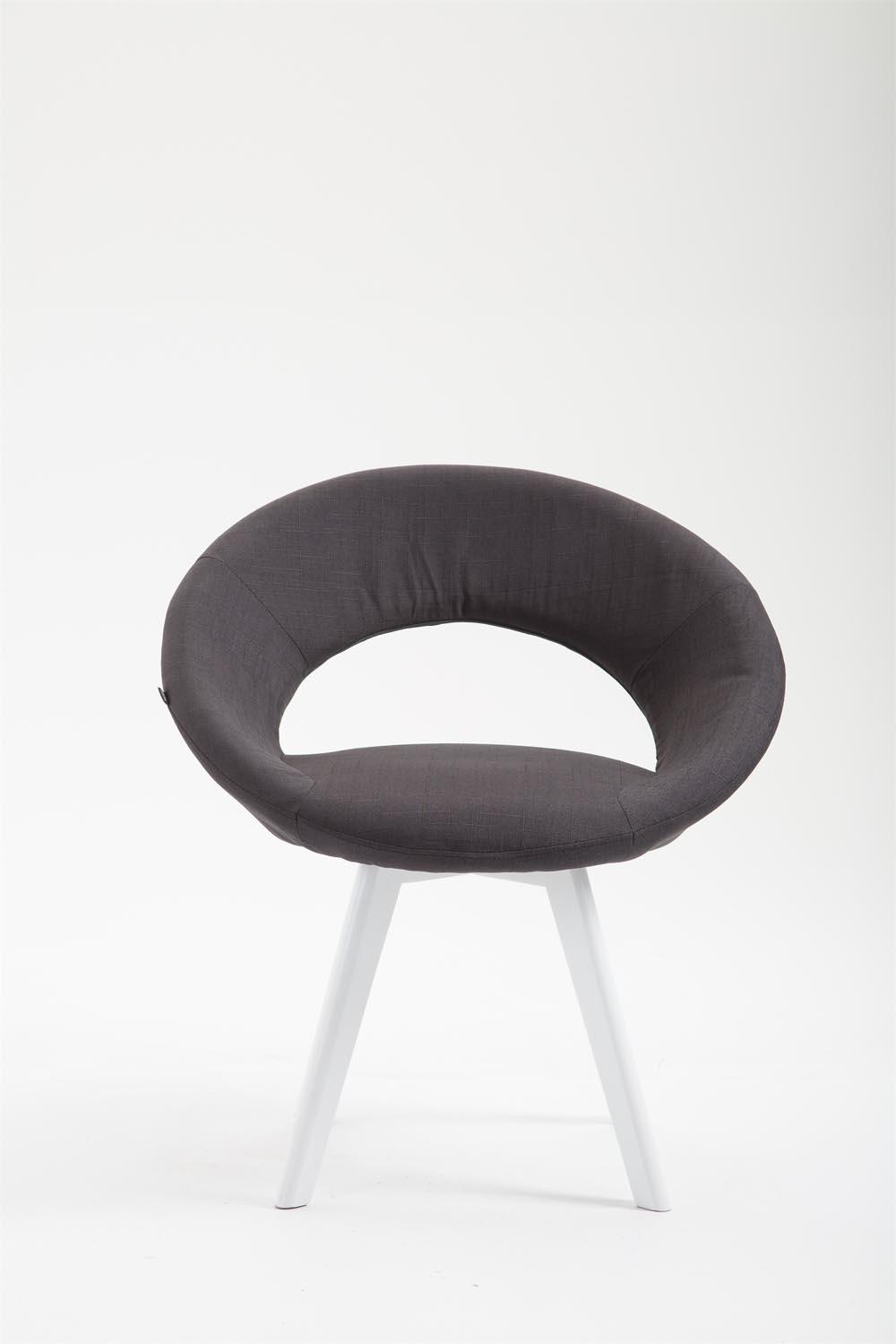 Stuhl Beck Stoff Weiß