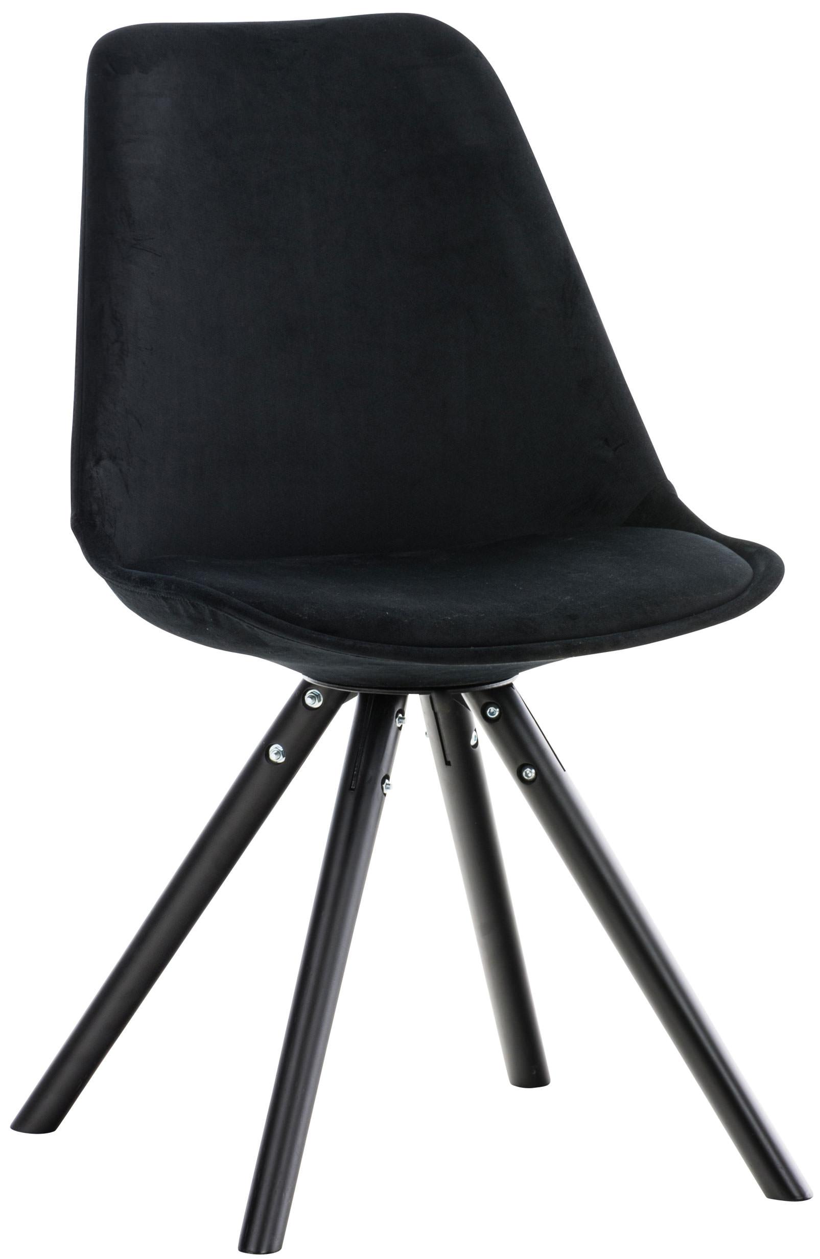 Stuhl Pegleg Samt Rund schwarz