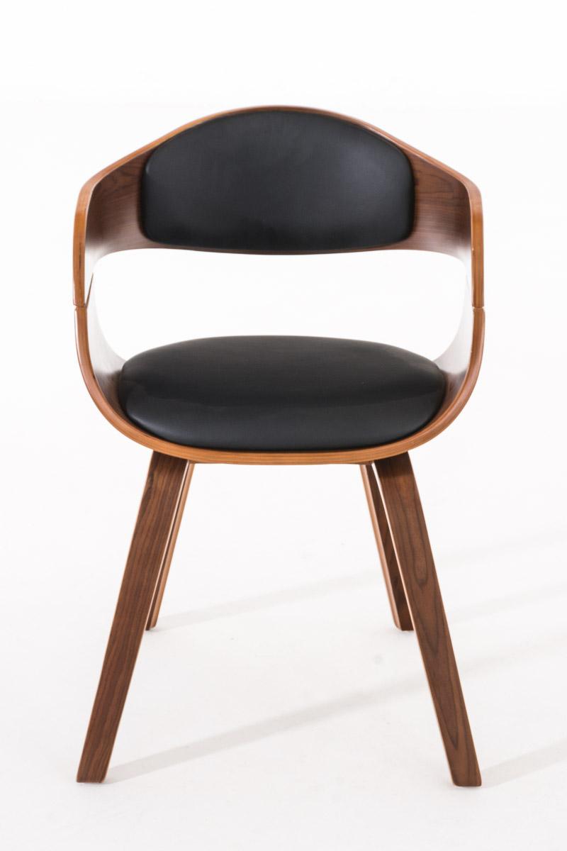 Besucherstuhl Kingston walnuss Wartezimmer Stuhl weiß