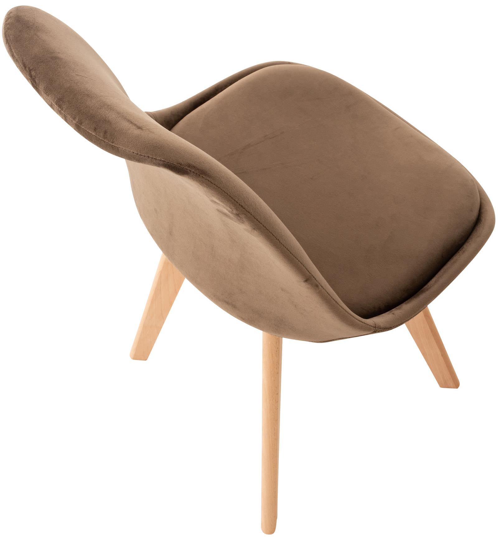 4er Set Stuhl Linares Samt